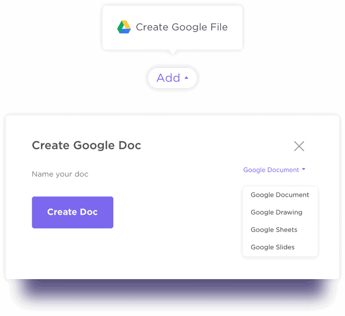 Create Google Files without Leaving ClickUp