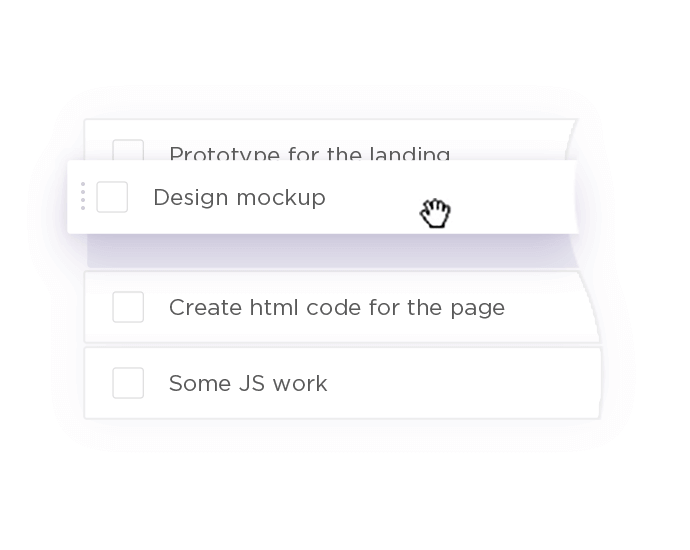Drag and drop tasks in your projects