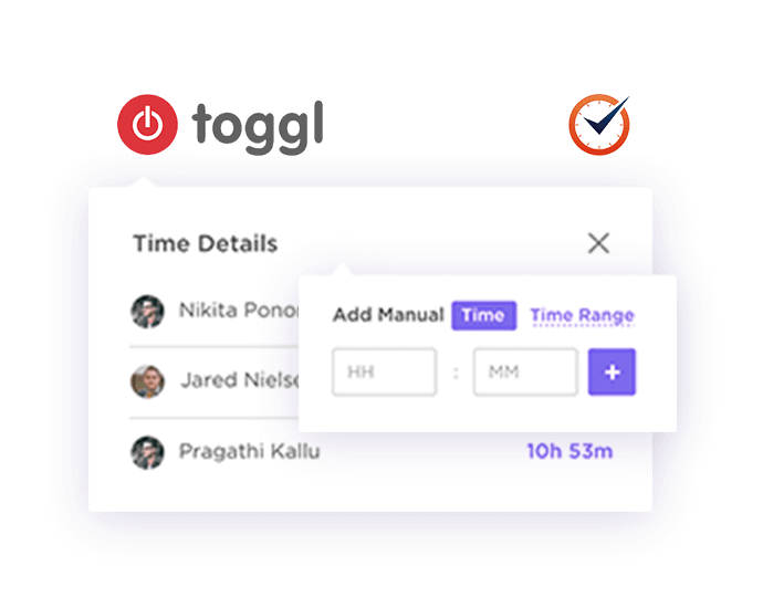 Log time right within each task